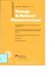 Journal of Energy & Natural Resources Law vOL.32 nº2