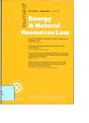 Journal of Energy & Natural Resources Law vol.29 nº3