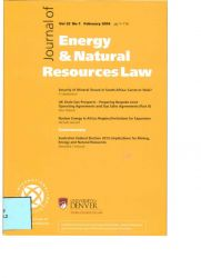 Journal of Energy & Natural Resources Law vol.32 nº1