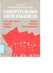CONSTITUIÇÕES ESTRANGEIRAS – ALEMANHA (RDA), BULGÁRIA, HUNGRIA, POLÔNIA, ROMÊNIA, TCHECOSLOVÁQUIA