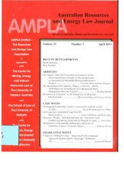 Australian Resources and Energy Law Journal Vol. 32 nº1